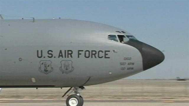 The trickle down from billions in military spending cuts is now hitting Oklahoma. Tinker Air Force Base announced part of its fleet is on the way out.