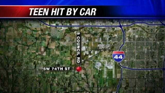 Teen severely injured after being pinned by car, police say