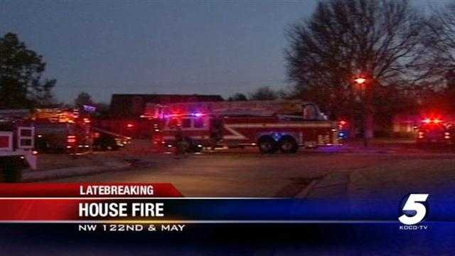 Crews at Northwest Oklahoma City house fire