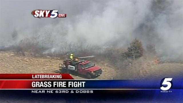 Wildfire burns near NE 63rd, Dobbs
