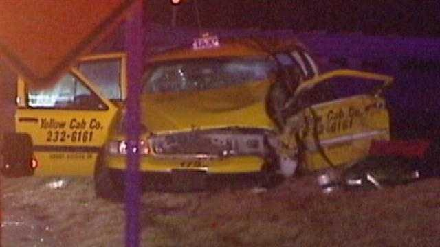 Cab driver dies after wrong-way crash