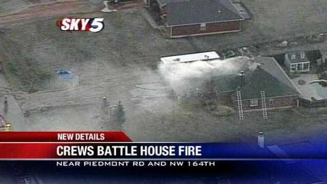 Piedmont house blaze causes $100,000 in damage