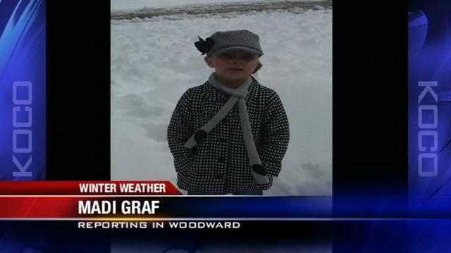 Woodward girl gives KOCO weather report