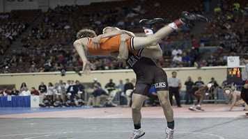 Briar Boling was able to toss around Blake Burden during his 14-11 victory.