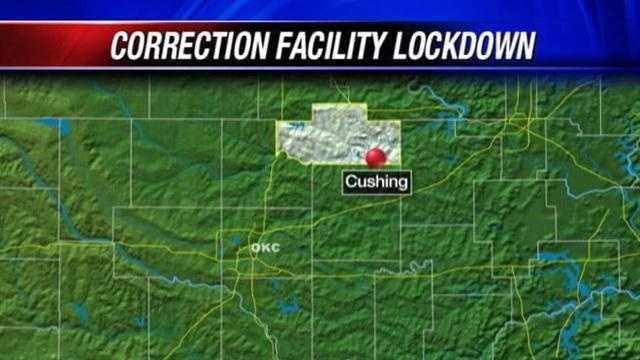 Cushing correctional facility on lockdown