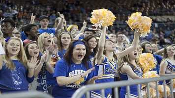 The Glencoe Panther's packed their fan section with energetic and rowdy fans.