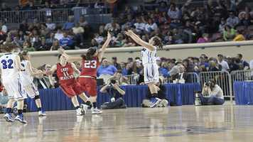 A Lomega player takes a three-point shot during their loss to Erick on Saturday.