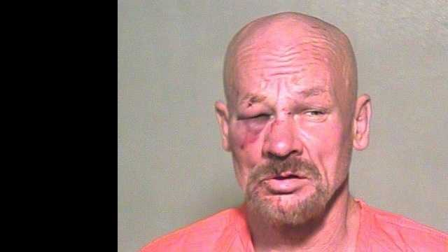 Jimmy Little, 55, aka Tom Crimm, was arrested on suspicion of attacking another man for not doing the dishes. Click here to read the story.