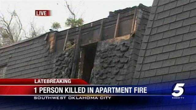 Firefighters have found a body inside a burned out apartment at a complex in southwest Oklahoma City. The fire broke out at the Greystone Apartments on 4900 S. Walker at about 11:45 a.m.