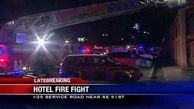 A family with a baby was among the residents evacuated from the Best Value Inn when a fire broke out this morning.