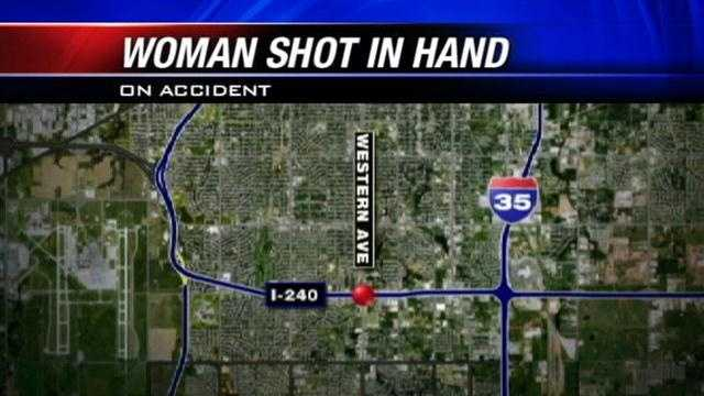 Woman shoots self in hand