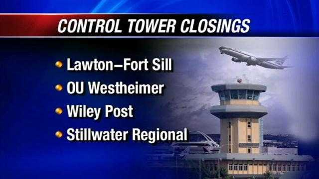 FAA plans to close several control towers in Oklahoma
