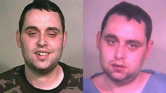 Left: Gabriel S. Rivera arrested after Taco Bell visit. Right: Gabriel S. Rivera arrested following traffic accident
