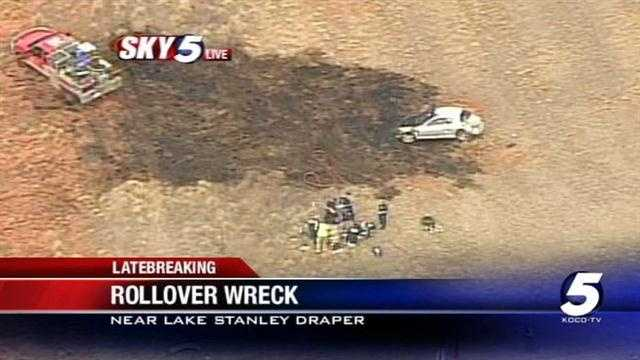 A rollover wreck near Lake Stanley Draper has seriously injured at least one person on Friday.