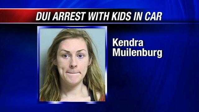 Jenks Police arrested a mother they say was driving drunk with two of her young kids in the car. Investigators say Kendra Muilenburg crashed her car Monday afternoon and admitted drinking. She was on her way to pick up another child from Pre-K.