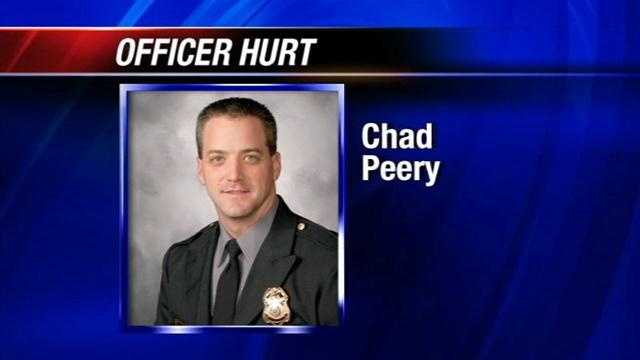Investigators say the van Officer Peery was in was driven by his nurse.