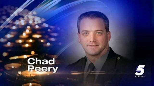 Oklahoma City Police Capt. Dexter Nelson confirms the death of Officer Chad Peery, who had been critically injured in a one-vehicle accident near Seminole on Sunday afternoon.