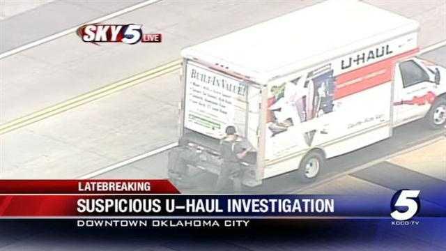 OKC police officers enter suspicious U-Haul