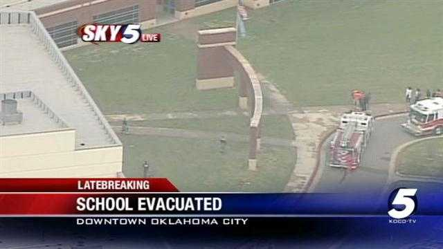 A fire in a girls restroom at an Oklahoma City high school caused it to be evacuated Wednesday.