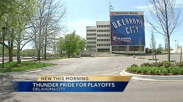 OKC shows Thunder pride for playoffs