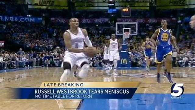Thunder's Westbrook out indefinitely with men tear