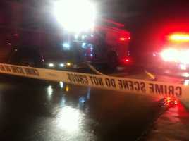 KOCO 5 News reporter Kim Passoth snapped these photos at the scene of a house fire in Moore on Friday night.