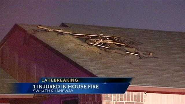 Man seriously injured in house fire