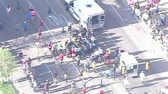 Marathon runner collapsed near finish line