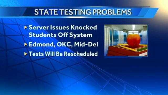State assessment tests interrupted by server issue
