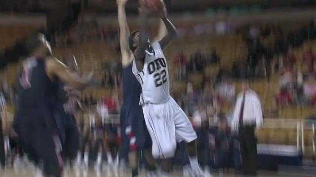 Police say an Oral Roberts basketball player tried to suffocate his pregnant girlfriend. The arrest report says he also hit her and pulled her through a Tulsa apartment. He is expected to appear in court next week.