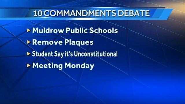 Ten Commandments debate