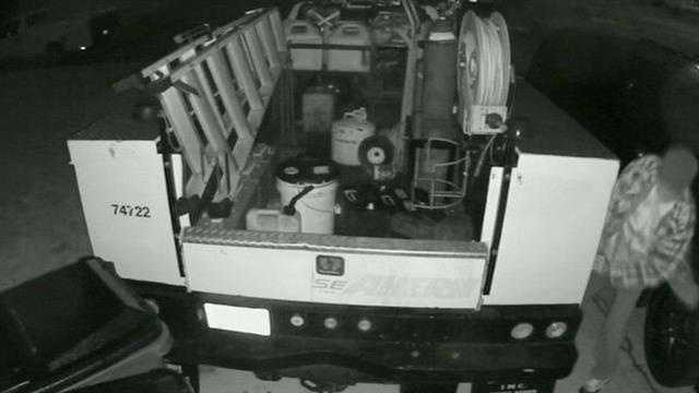 Cameras catch truck thief in action