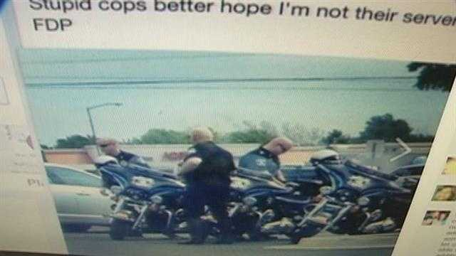 The post was shared by law enforcement all over the country.