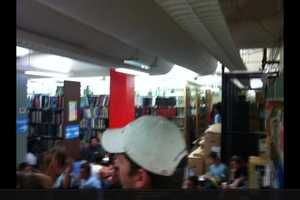Taking cover at Edmond library