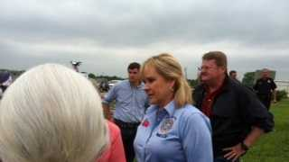 Gov. Mary Fallin tours destruction in Carney.