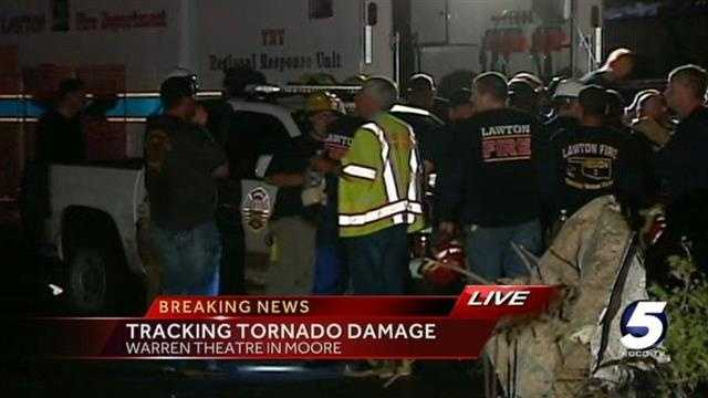 Rescue effort continues near Warren Theatre