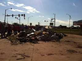 Hundreds maybe even more than 1,000 volunteers responded to a request for help from the City of Moore Wednesday.