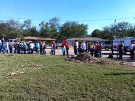 The clean-up effort was initiated to make sure the cemetery's ground were cleared before the funerals of tornado victims.