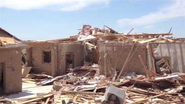Raw Video: Heavily damaged home in Newcastle area