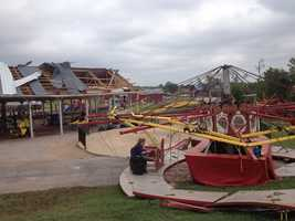 Hundreds of volunteers came out to help rebuild the Orr Family Farm. The farm was in the path of Monday's tornado, and it tore through many buildings. On Saturday, help arrived in droves to get the farm up and running again.