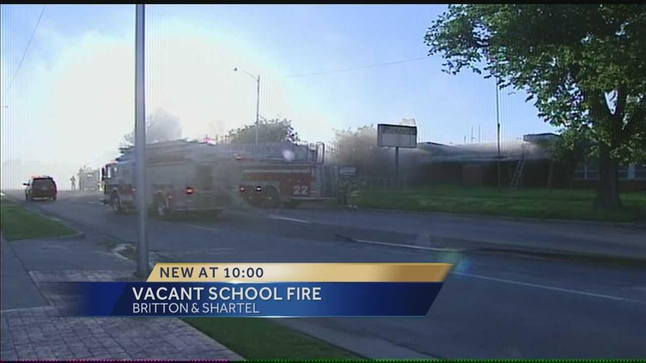Fire officials investigate vacant school blaze