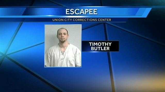 An escapee is on the run. Authorities say he busted out of the Union City Community Corrections Center.