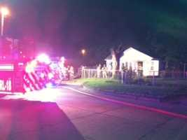 According to fire investigators, the fire started in a back room of the home, and caused serious damage.