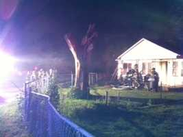 No one was inside the home at the time and no injuries were reported.