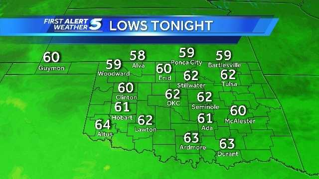 Morning lows July 1