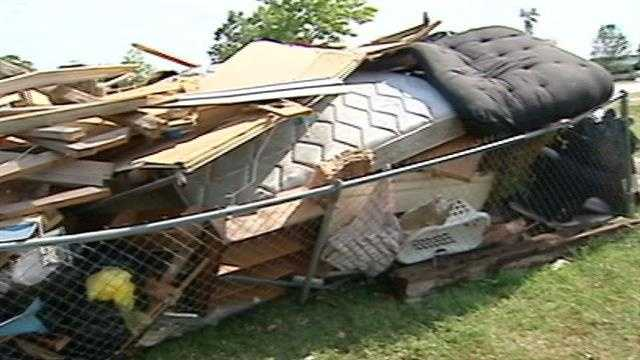 Clean-up coming for storm-ravaged community