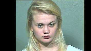 Taylyn Walker, 21, arrested on suspicion of being a prostitute.