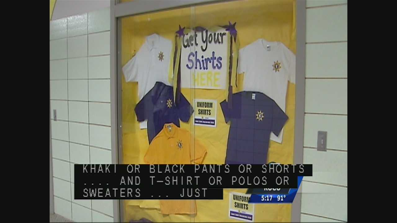 The Oklahoma City School Board earlier this year approved a new district-wide uniform policy. It starts when school begins Aug. 5. The goal was to promote safety, school spirit and eliminate the division name-brand logos can sometimes cause.