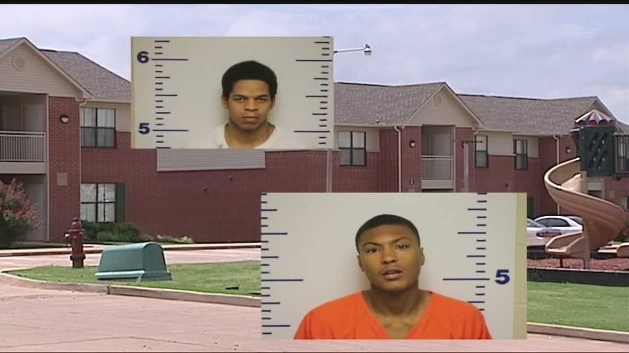 Police are questioning two men who they say robbed three female students at a housing unit on the Langston University campus.