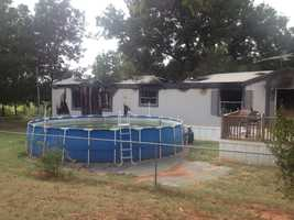 A McClain County man attacked his wife and set their house on fire just a week after she filed a victim protection order, according to the McClain County Sheriff's Department.
